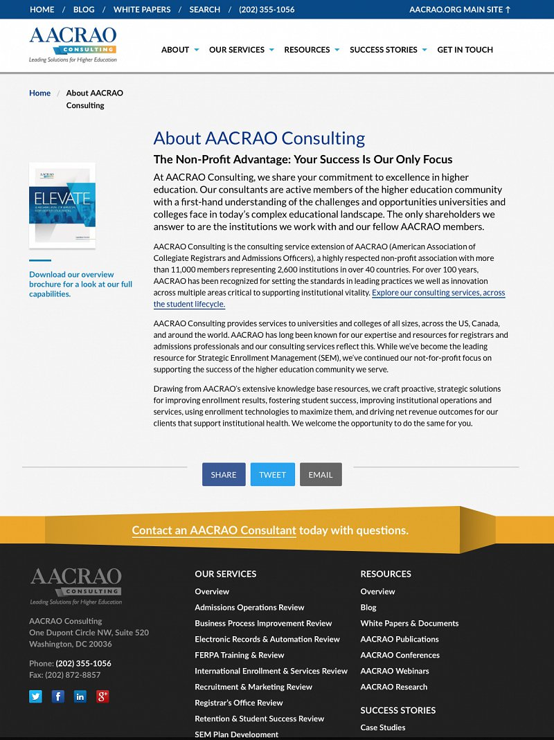 AACRAO About page