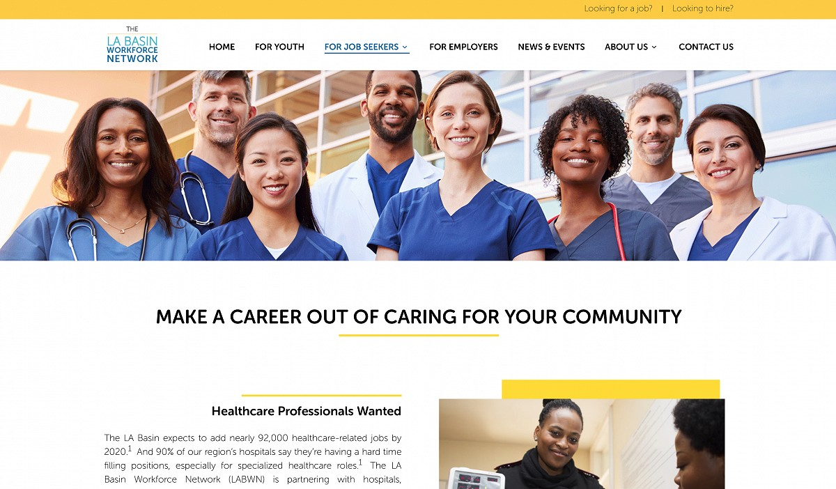 Healthcare page